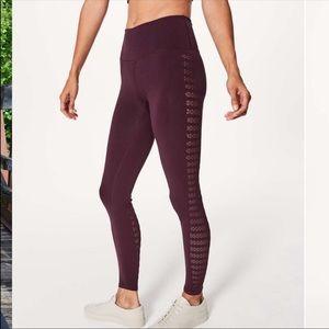 8cbecfbd7 lululemon athletica Pants - New LULULEMON reveal tights dark adobe wine 10